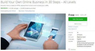 Udemy Coupon – Build Your Own Online Business in 30 Steps – All Levels