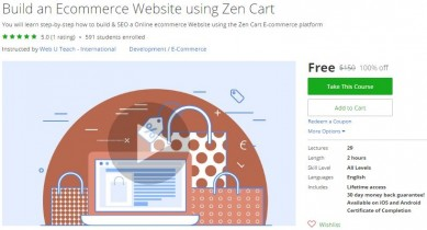 Udemy Coupon – Build an Ecommerce Website using Zen Cart
