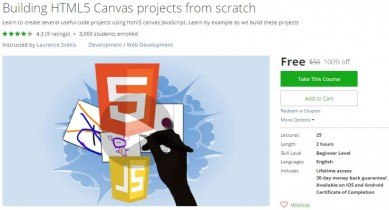 Udemy Coupon – Building HTML5 Canvas projects from scratch