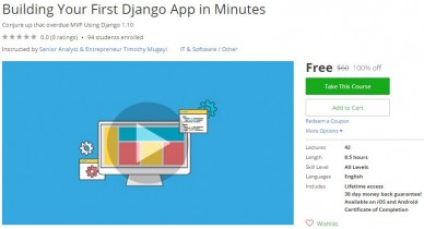 Udemy Coupon – Building Your First Django App in Minutes