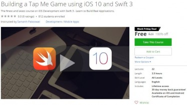 Udemy Coupon – Building a Tap Me Game using iOS 10 and Swift 3