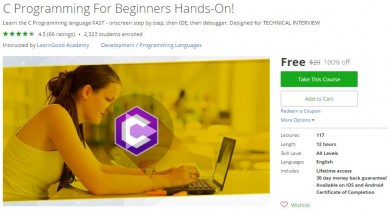 Udemy Coupon – C Programming For Beginners Hands-On!