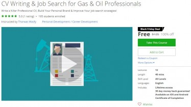 Udemy Coupon – CV Writing & Job Search for Gas & Oil Professionals