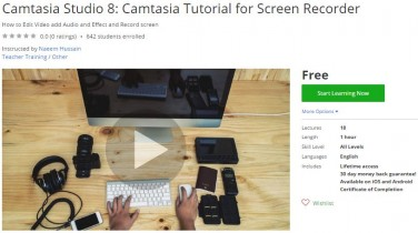 Udemy Coupon – Camtasia Studio 8: Camtasia Tutorial for Screen Recorder