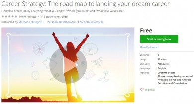 Udemy Coupon – Career Strategy: The road map to landing your dream career