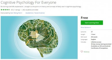 Udemy Coupon – Cognitive Psychology For Everyone