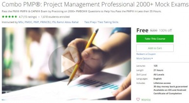 Udemy Coupon – Combo PMP®: Project Management Professional 2000+ Mock Exams