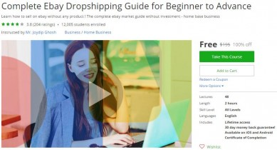 Udemy Coupon – Complete Ebay Dropshipping Guide for Beginner to Advance