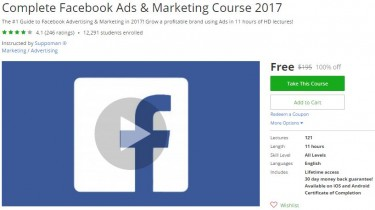 Udemy Coupon – Complete Facebook Ads & Marketing Course 2017