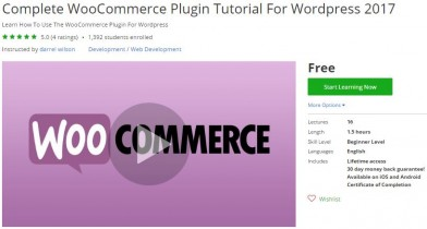 Udemy Coupon – Complete WooCommerce Plugin Tutorial For WordPress 2017