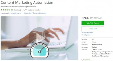 Udemy Coupon – Content Marketing Automation