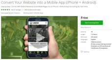 Udemy Coupon – Convert Your Website into a Mobile App (iPhone + Android)