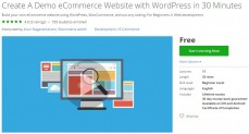 Udemy Coupon – Create A Demo eCommerce Website with WordPress in 30 Minutes