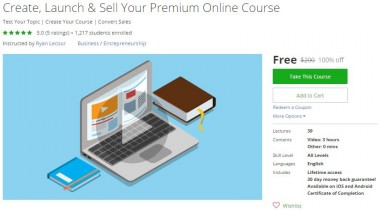 Udemy Coupon – Create, Launch & Sell Your Premium Online Course