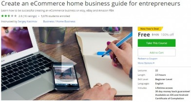 Udemy Coupon – Create an eCommerce home business guide for entrepreneurs