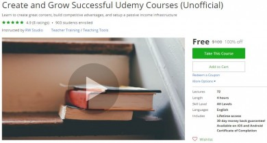 Udemy Coupon – Create and Grow Successful Udemy Courses (Unofficial)