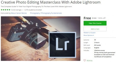 Udemy Coupon – Creative Photo Editing Masterclass With Adobe Lightroom