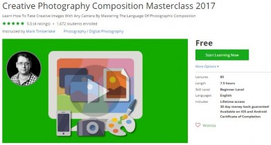 Udemy Coupon – Creative Photography Composition Masterclass 2017