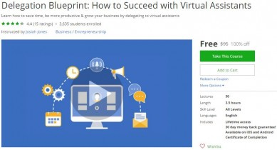 Udemy Coupon – Delegation Blueprint: How to Succeed with Virtual Assistants