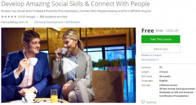 Udemy Coupon – Develop Amazing Social Skills & Connect With People