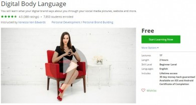 Udemy Coupon – Digital Body Language