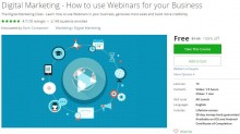 Udemy Coupon – Digital Marketing – How to use Webinars for your Business