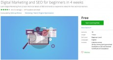 Udemy Coupon – Digital Marketing and SEO for beginners in 4 weeks