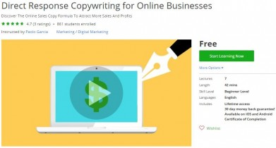 Udemy Coupon – Direct Response Copywriting for Online Businesses