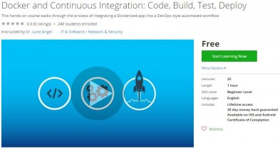 Udemy Coupon – Docker and Continuous Integration: Code, Build, Test, Deploy