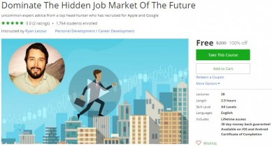 Udemy Coupon – Dominate The Hidden Job Market Of The Future