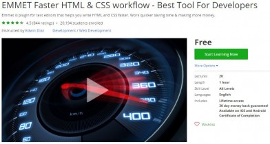 Udemy Coupon – EMMET Faster HTML & CSS workflow – Best Tool For Developers