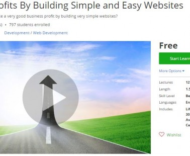 Udemy Coupon – Earn Big Profits By Building Simple and Easy Websites