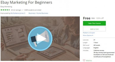 Udemy Coupon – Ebay Marketing For Beginners