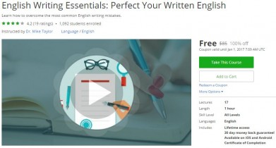 Udemy Coupon – English Writing Essentials: Perfect Your Written English