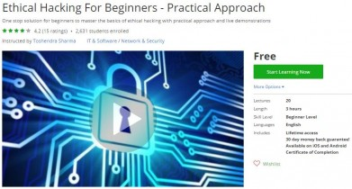 Udemy Coupon – Ethical Hacking For Beginners – Practical Approach