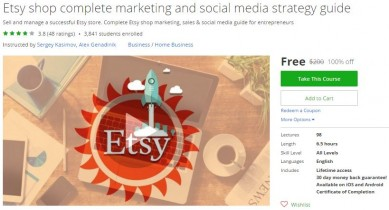 Udemy Coupon – Etsy shop complete marketing and social media strategy guide