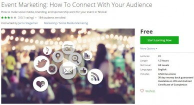 Udemy Coupon – Event Marketing: How To Connect With Your Audience