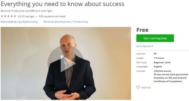 Udemy Coupon – Everything you need to know about success