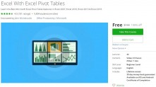 Udemy Coupon – Excel With Excel Pivot Tables
