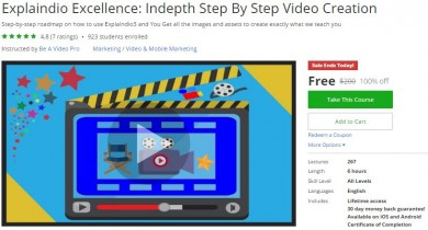 Udemy Coupon – Explaindio Excellence: Indepth Step By Step Video Creation