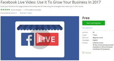 Udemy Coupon – Facebook Live Video: Use It To Grow Your Business In 2017