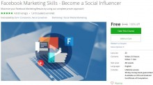 Udemy Coupon – Facebook Marketing Skills – Become a Social Influencer