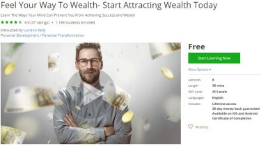 Udemy Coupon – Feel Your Way To Wealth- Start Attracting Wealth Today