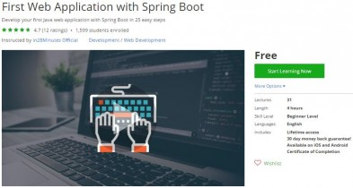 Udemy Coupon – First Web Application with Spring Boot