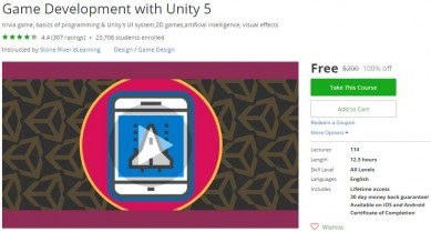 Udemy Coupon – Game Development with Unity 5
