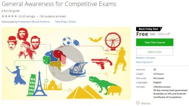 Udemy Coupon – General Awareness for Competitive Exams