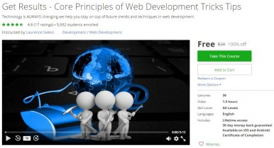 Udemy Coupon – Get Results – Core Principles of Web Development Tricks Tips