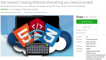 Udemy Coupon – Get started Creating Websites Everything you need provided