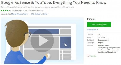 Udemy Coupon – Google AdSense & YouTube: Everything You Need to Know