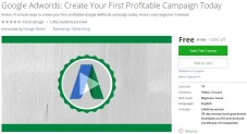 Udemy Coupon – Google Adwords: Create Your First Profitable Campaign Today